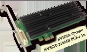 nVIDIA Quadro NVS290 256MB PCI-e 1x 顯示卡